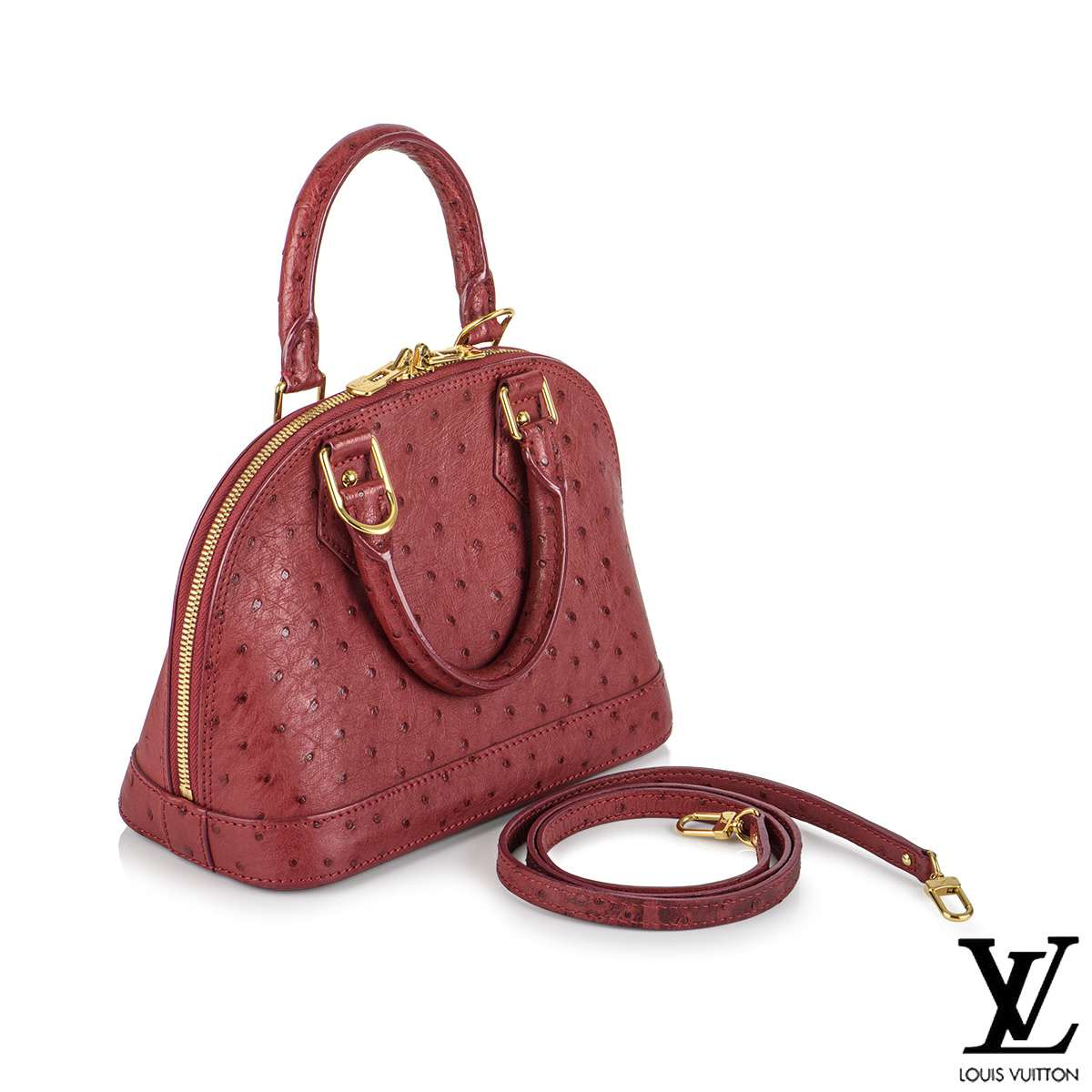 Louis Vuitton Fuchsia Ostrich Alma BB Bag